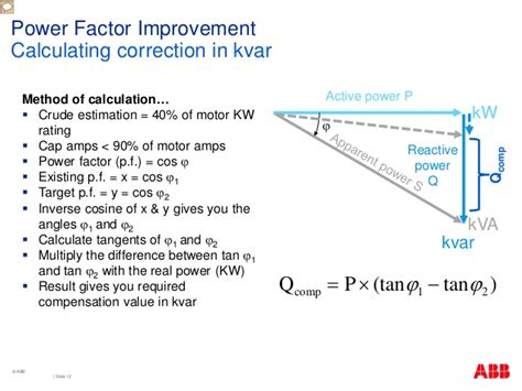 power factor correction equation power quality systems and power factor correction presentation