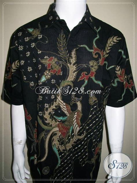 Merak Jumbo baju batik motif burung merak modern kontemporer ukuran