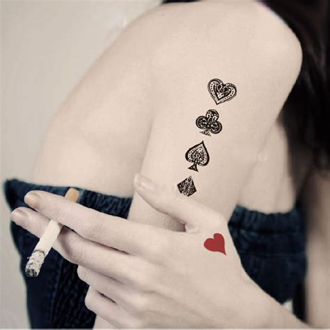tattoo nightclub pictures fancy poker tattoo stickers set of 8 on luulla