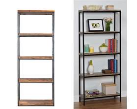 Wood And Metal Bookcases Ikea Hack Wood And Metal Bookshelf Real Happy Space