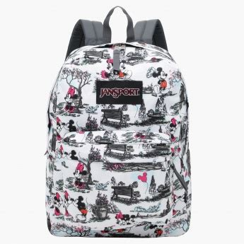 Printed Zip Backpack jansport mickey mouse printed backpack with zip closure