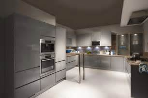 High Gloss Grey Kitchen Cabinets Line N1 Affordable German Kitchens Affordable German