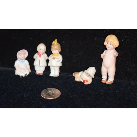 dollhouse characters antique doll set all bisque miniature dollhouse character