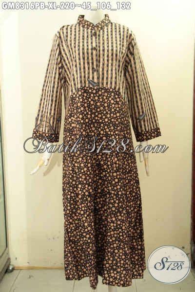 Gamis Batik Anggun model baju batik gamis 2 motif yang bikin wanita terlihat