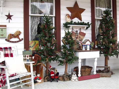 christmas front porch decorating ideas suesjunktreasures rustic country christmas on my front