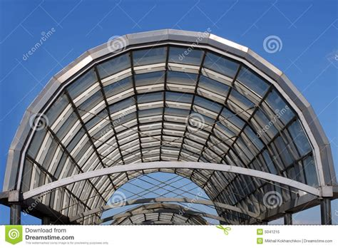 arc steel arc steel and glass roof royalty free stock photo image