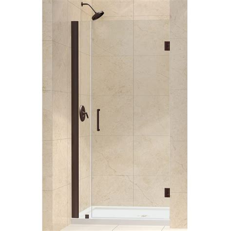 Hinged Frameless Shower Doors Dreamline Unidoor Min 34 Quot To Max 35 Quot Frameless Hinged Shower Door Clear 3 8 Quot Glass Door