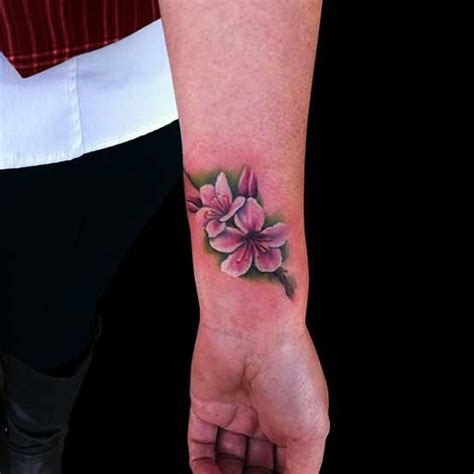 cherry blossom tattoo on wrist cool cherry blossom designs on wrist