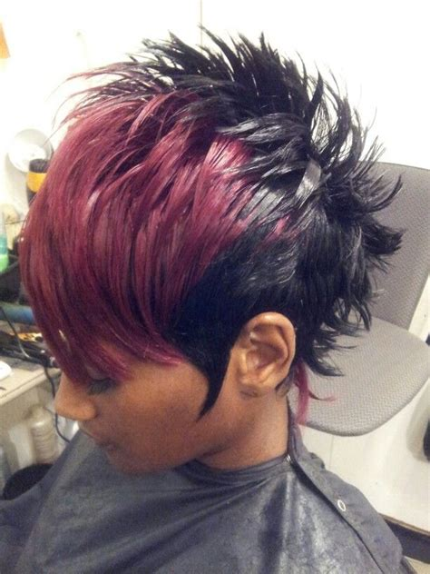 quick weave mohawk by nexttopstylist stl hairstyles