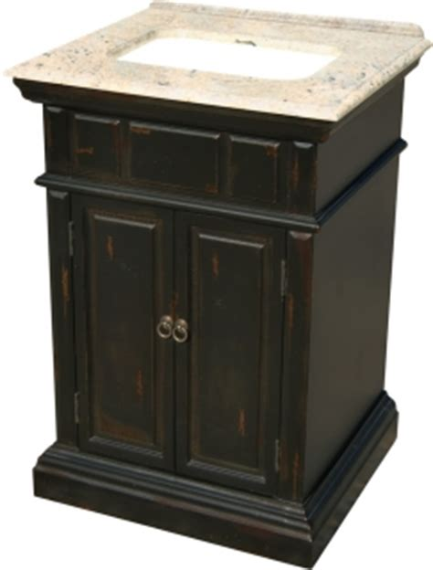 Black Distressed Bathroom Vanity by 25 Inch Single Sink Bathroom Vanity With A Distressed