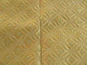 Retro Upholstery Fabric Vintage Upholstery Fabric Gold Raised Design By