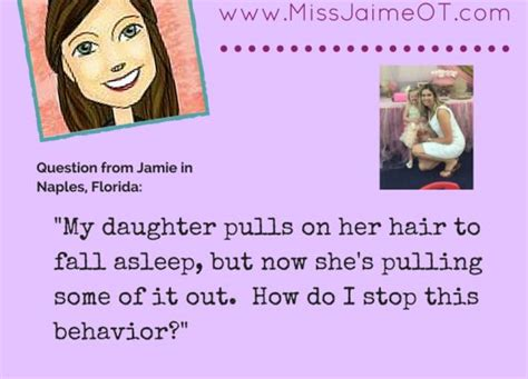 self comforting behaviors ask miss jaime ot how do i stop my child from pulling