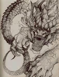 dragon sketch by tokyozilla on deviantart