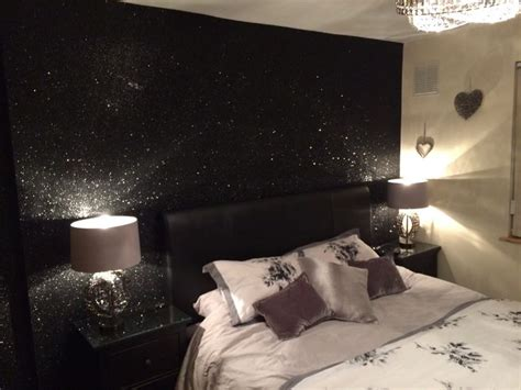 grey glitter wallpaper in bedroom glitter sparkle shades of silver black authentic