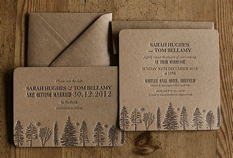 Wedding Invitations Recycled Paper by Recycled Brown Letterpress Wedding Invitations Artcadiacopy