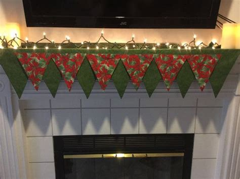 christmas poinsettia fireplace mantel scarf 9 best mantle scarf images on christmas