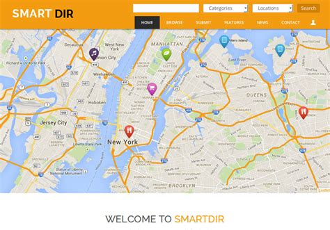 drupal themes directory smartdir drupal theme for directory listings