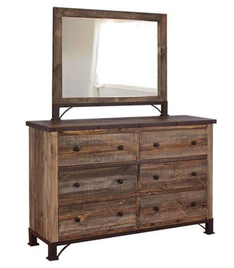 international furniture direct 900 antique rustic 6 drawer