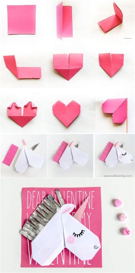 How To Make An Origami Unicorn Easy - best 25 day cards ideas on