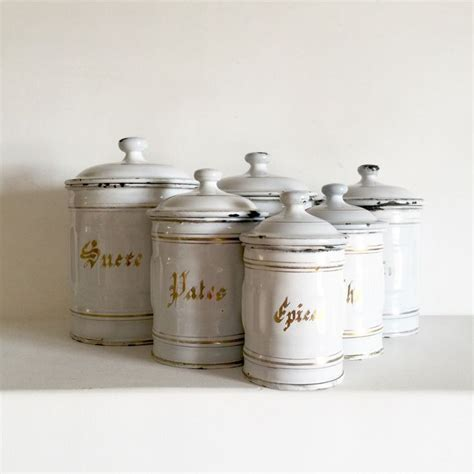 1940 s french kitchen canisters set french enamelware 143 best images about love all things french on pinterest