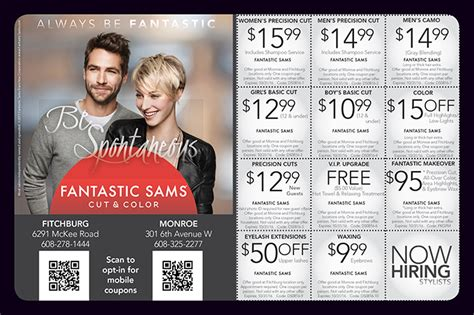 haircut coupons in phoenix fantastic sams coupons hair color