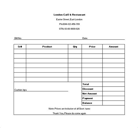 food order receipt template 12 restaurant receipt templates doc pdf free