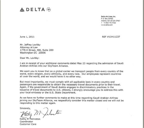 Response Letter To Investigation Faa Investigation Demanded Of Delta Saudi No Deal Gt Gt Four Winds 10 Winds