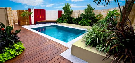 Pool In Backyard Pools For Smaller Challenging Spaces 187 Leisure Pools New Zealand