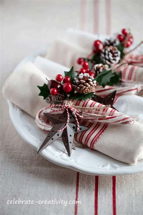 images of christmas napkin rings super delicate napkin ideas for your christmas table