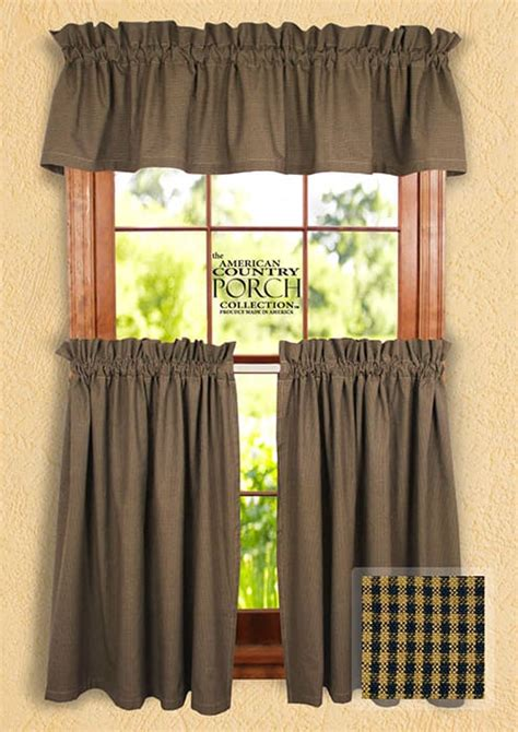 cottage country curtains cottage navy minicheck curtain valances