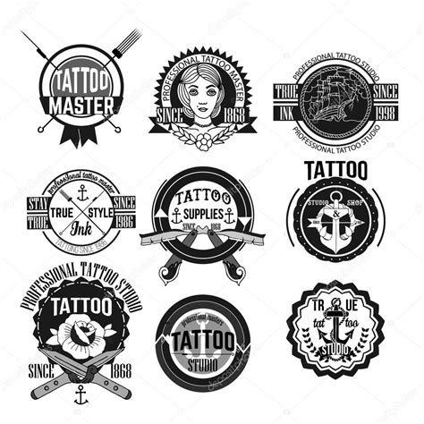 download free tattoo logo vector conjunto de vetores de emblemas e logotipos de tatuagem