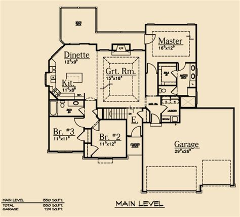 Split Bedroom Floor Plans Split Bedroom Ranch Scape Homes