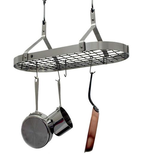 Hanging Pan Rack Contemporary Hanging Pot Rack Stainless Steel In Hanging