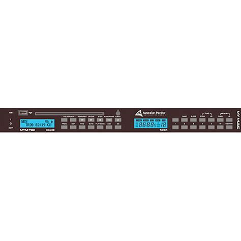 Rack Mount Mp3 Player by Australian Monitor Mym Tcd Rack Mount Cd Mp3 Player And