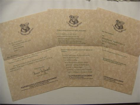 Hogwarts Acceptance Letter Invitation Wizardcraft Minecraft Project