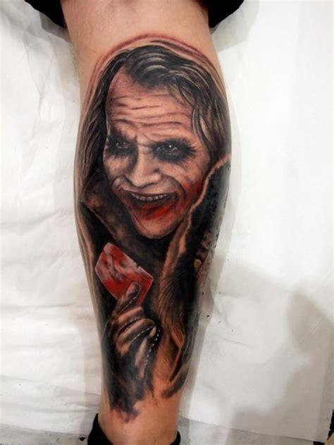 joker tattoo on leg heath ledger joker tattoo pin heath ledger joker leg