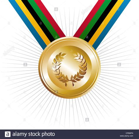 what color represents royalty olympics gold medal with ribbons in the colors which