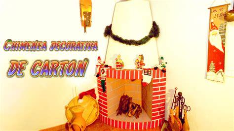 decoracion de cajas de carton reciclado manualidades para navidad chimenea decorativa de cart 243 n