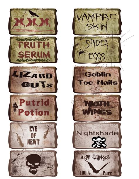 potion label template potion bottles template images
