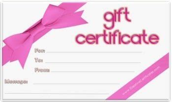 generic gift card template free gift certificate template customize and