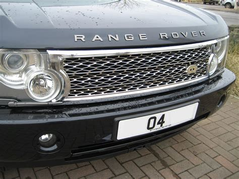 chrome range rover chrome supercharged grille conversion kit for range rover