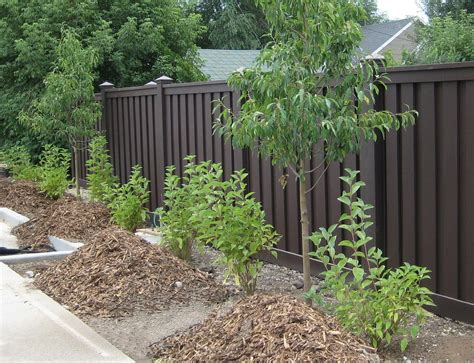 different types of yard fences semi fence