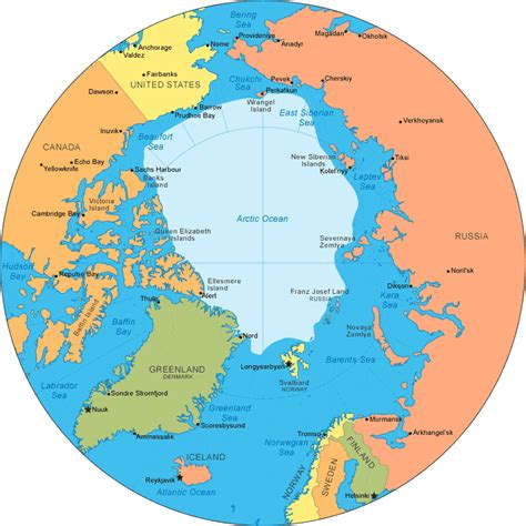 arctic map arctic map arctic circle and