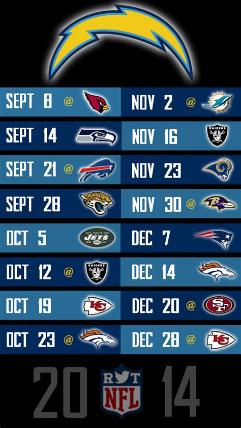 san diego chargers 2014 2014 nfl schedule wallpapers for iphone 5