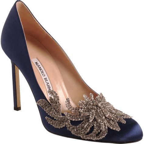Manolo Blahnik Poppy Heels by Lyst Manolo Blahnik Swan In Blue