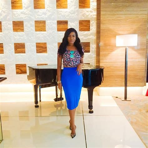 Chika Blouse Navi 42k chika ike stuns in blue chic pencil skirt in dubai photos gongafrica
