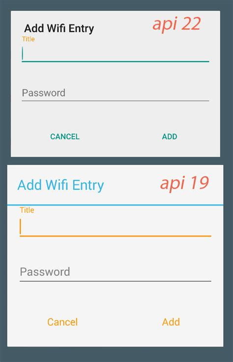 android dialogfragment layout width android edittext not tinted in accent color on lollipop