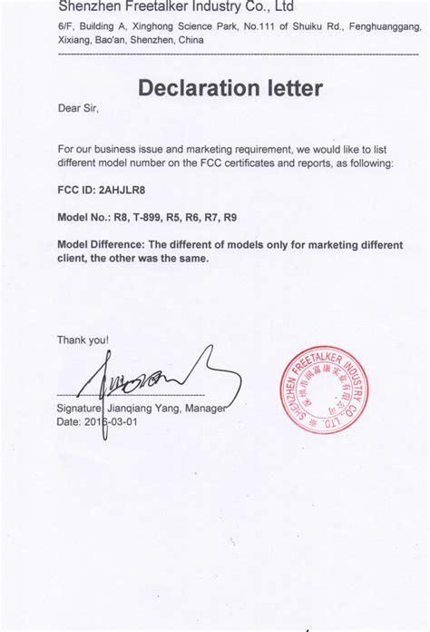 Financial Declaration Letter decclirection leetter images cv letter and