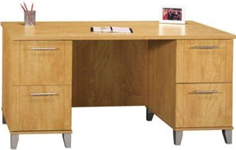 Small Maple Desk Bush Wc81428 03 Somerset 60 Inch Computer Desk 2 File Drawers That Hold Letter Size Files 2