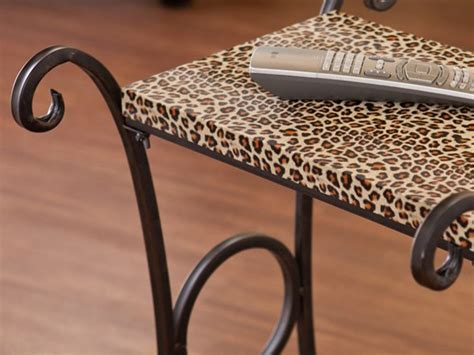 print accent table sei print accent table leopard